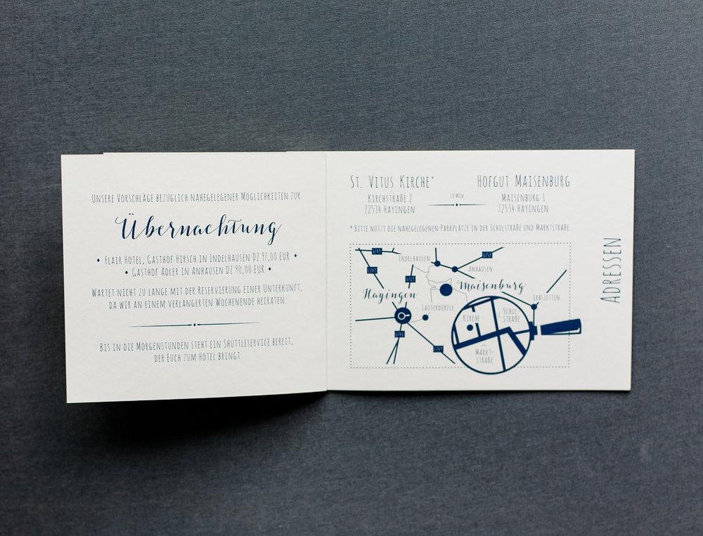 Booklet Einladung, geöffnet, Innenseite 2
