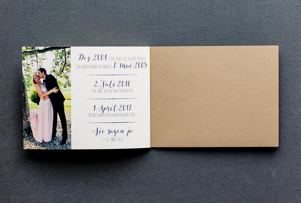 Booklet Einladung, geöffnet, Innenseite 3