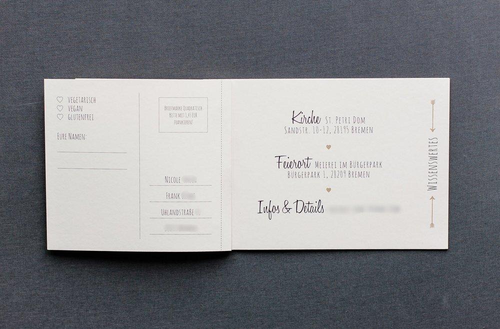 Booklets Einladung, Innenseite 2