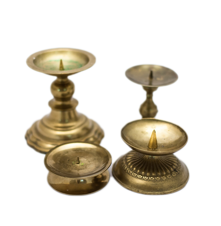 Kerzenständer Für Stumpenkerzen Sammlung Messing Gold Anmut Und Sinn Eventstyling Dekoverleih Floristik Papeterie