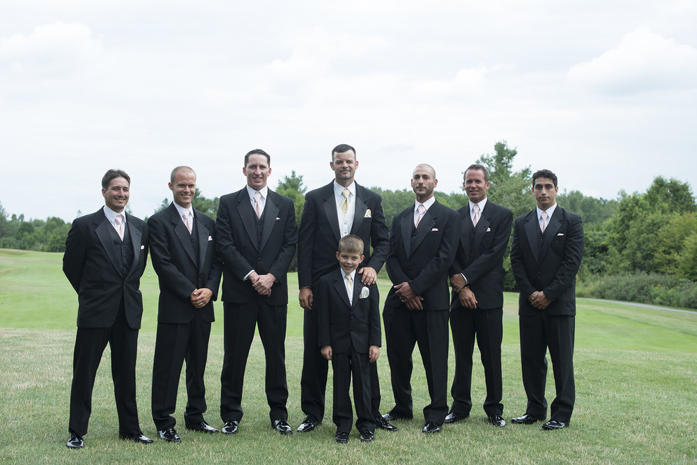 Justin + his groomsmen -  before