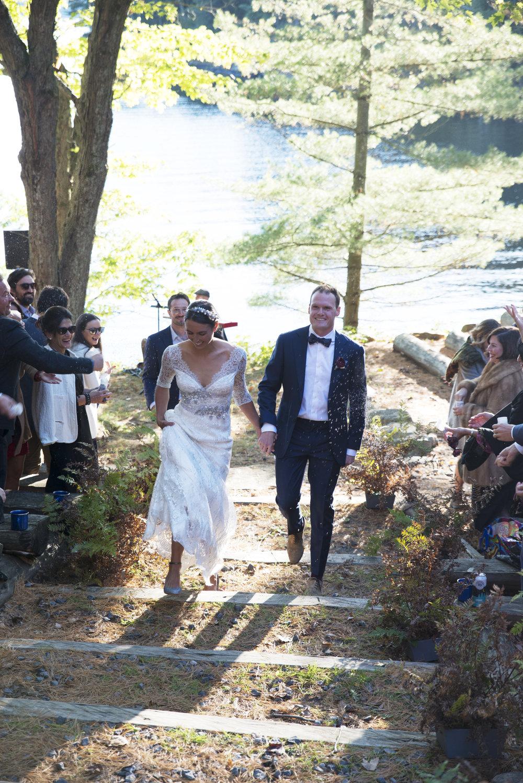 RosewoodWeddingPhotos-CampBabarr-ParrySound-Camp-CampWedding-Outdoors-Fall-Newlywed-WeddingCeremony