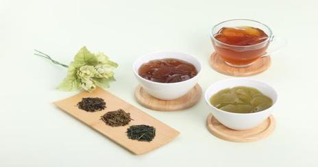 Three Tea-Jelly Desserts