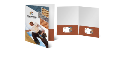 Package your forms and materials with custom pocket folders at Bluegrass Print.