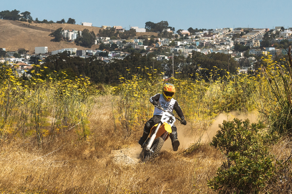 Jeff Ward Riding the Redshift MX Electric Motorcycle