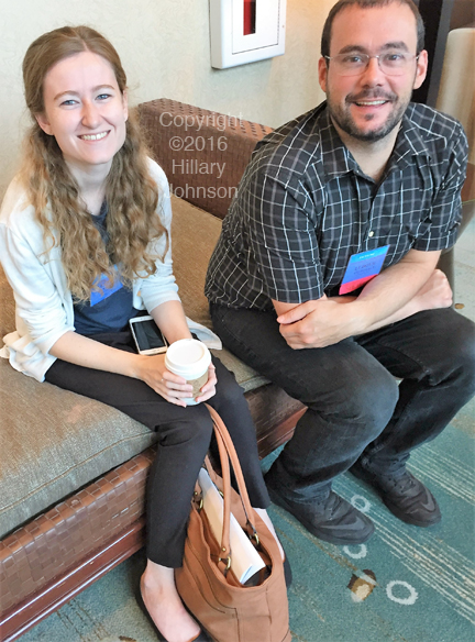 """Colleagues: Alexandra H. Mandarano, a Ph.D. student in the Hanson Lab at Cornell, and Ludovic Giloteaux, Ph.D., Postdoctoral Research Associate, Department of Molecular Biology and Genetics, Cornell University. Giloteaux presented more microbiome data from the Hanson Lab. The study found markers of inflammation as well as microbial translocation--the passage of gut microbes into the blood. The latter is a common finding in AIDS.  A 2013 journal article on microbial translocation in AIDS notes that the phenomenon has been proposed as """"a major driver of the chronic immune activation that is associated with disease progression."""" (From """"Microbial Translocation in the Pathogenesis of AIDS and HIV Infection,"""" in Clinical Microbiology Reviews, the journal of the American Society for Microbiology, 2013.)"""
