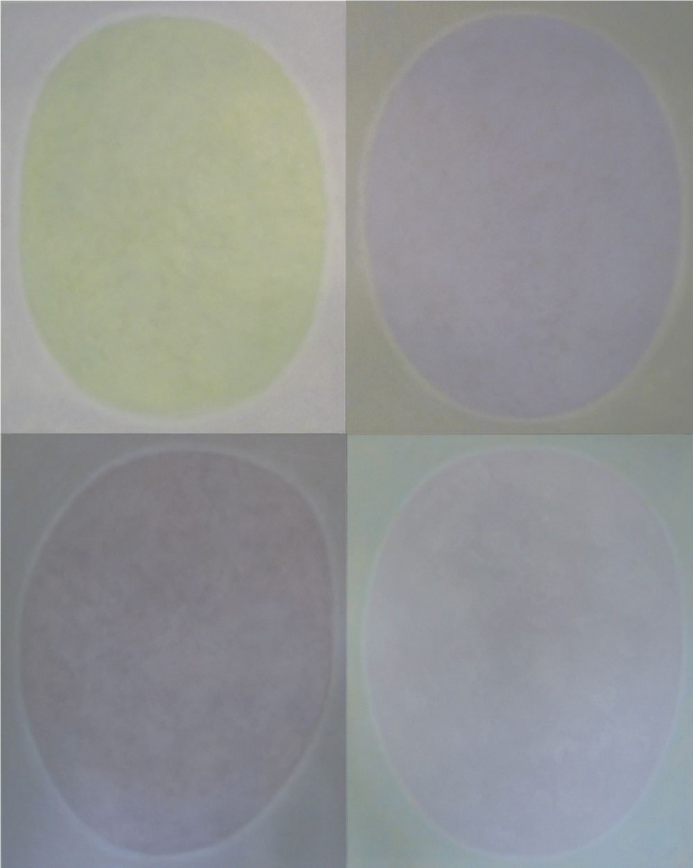 "Silent 17, oil on canvas, 2008, series of 4 panels W24"" x H36"" each, total format W48"" x H72"". Private collection."