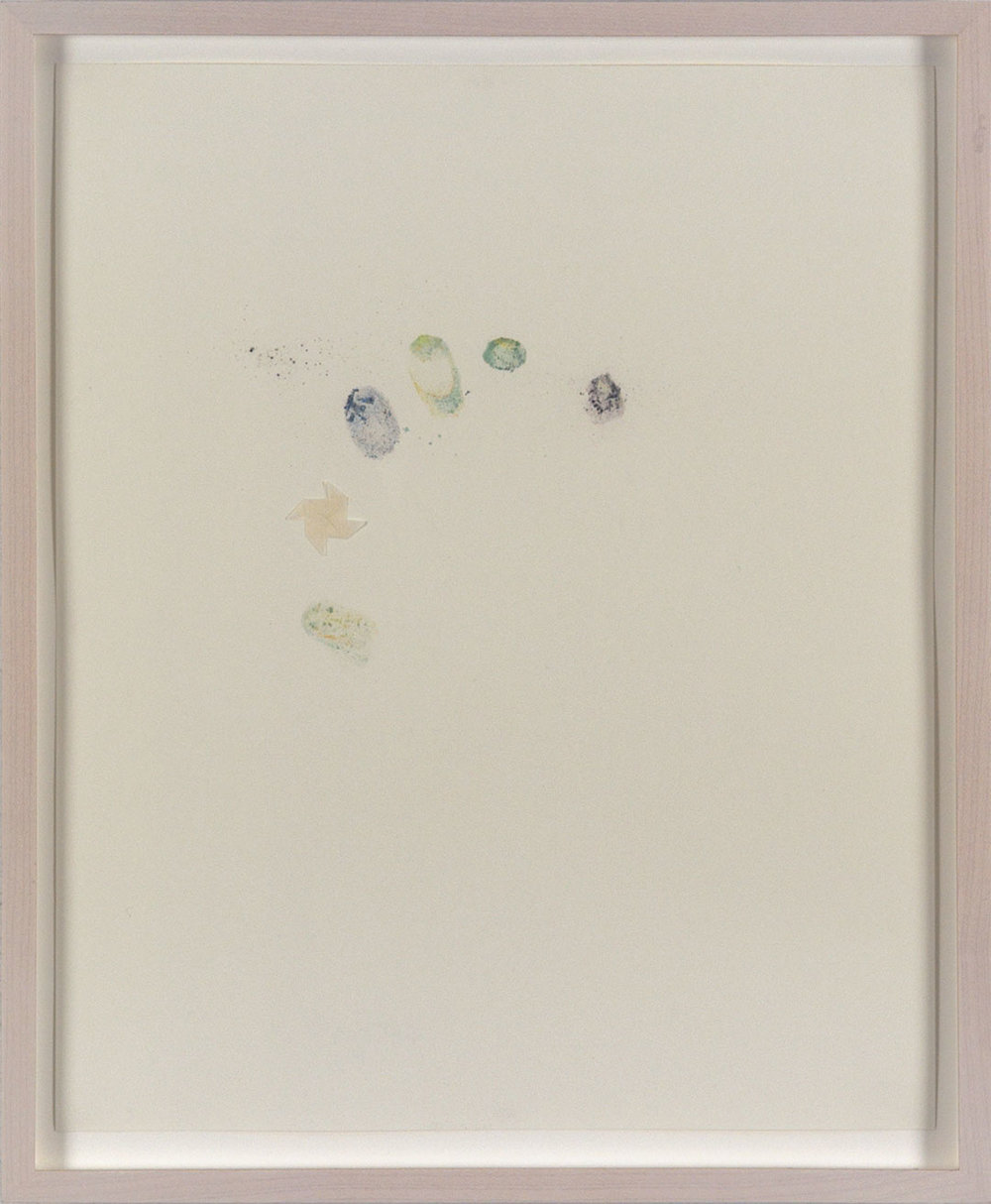 "Self 10, 2005, dry pastel pigment and tracing paper on Strathmore paper. Framed 12.25 x H15"" x D0.5""."