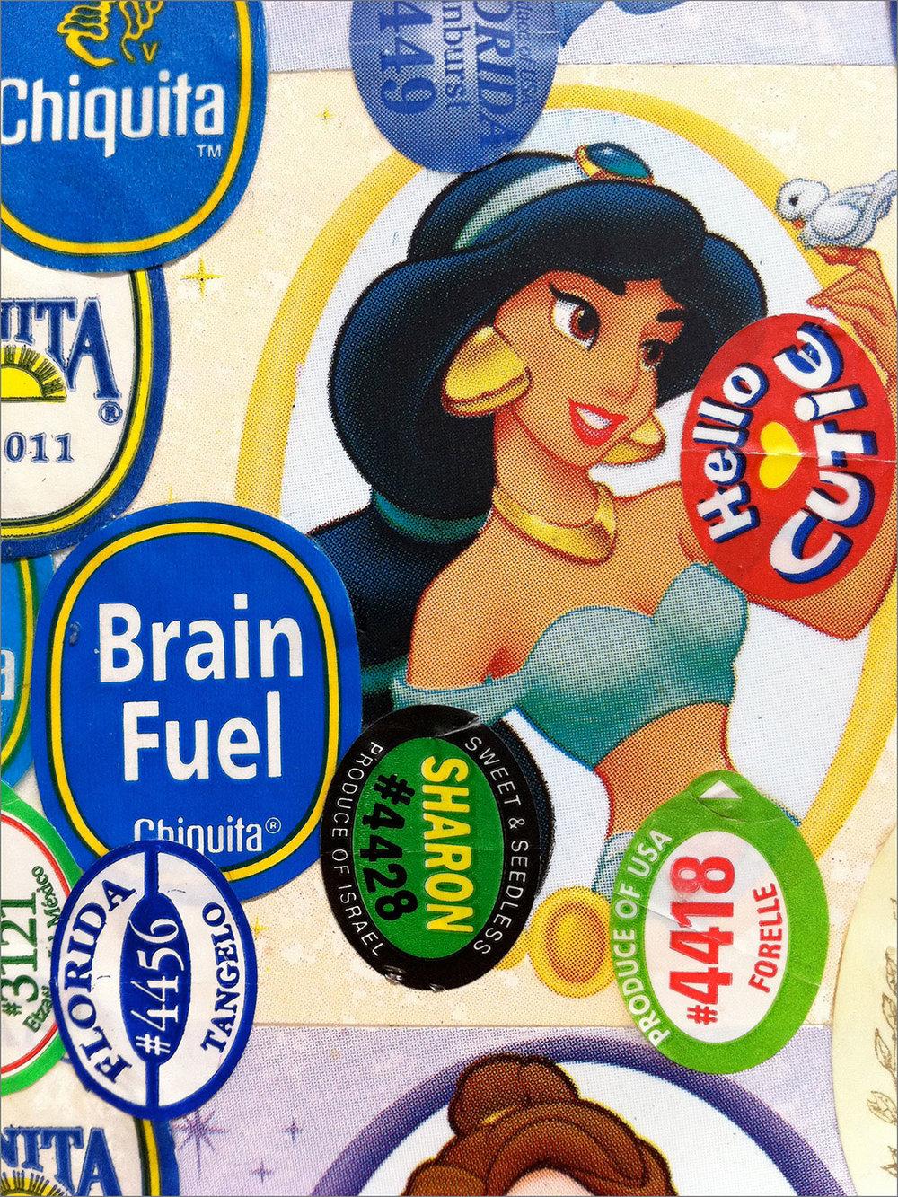 Kitchen Art 63, Brain Fuel. Detail.