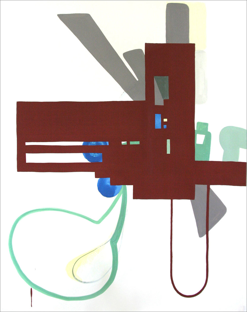 "Fort 11, 2005, W21"" x H26"", gouache on paper."