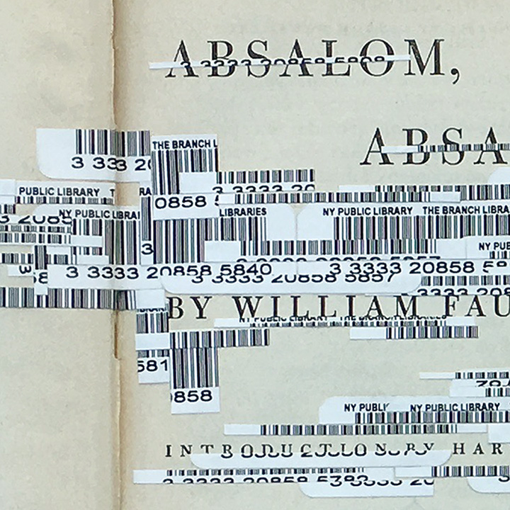 """Faulkner's Interferences 1, Absalom, Absalom"", detail."