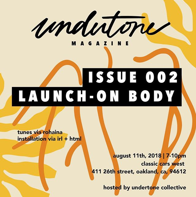 "We are SO excited to announce that our project FOLDS, in collaboration with @chelsey_sinclair, has been accepted as part of @undertonemag ""Issue 002: On Body."" We're thrilled to be featured alongside a group of incredible artists, and wish we could join our Bay Area friends at @undertonecollective's release party next Saturday ✨ Keep an eye out for Issue 002 in print soon"