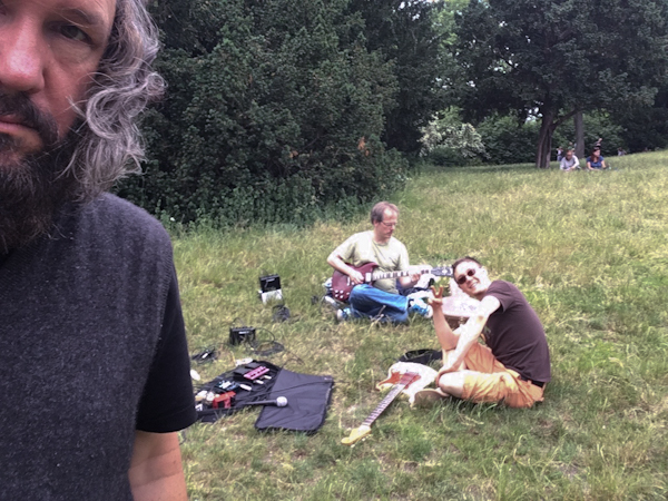 Practicing in Viktoria Park with Bapu and fellow rocker Tristan.
