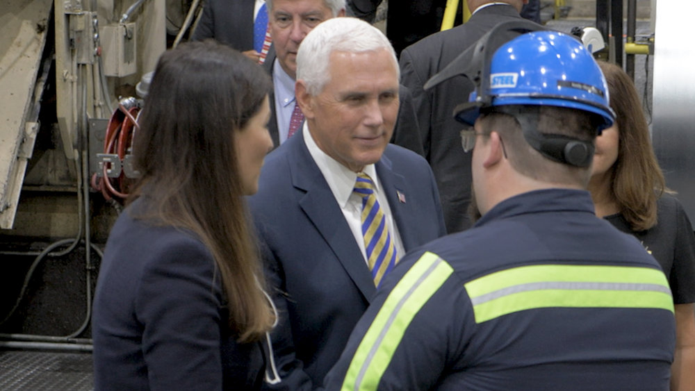 Vice president mike pence - mill steel company