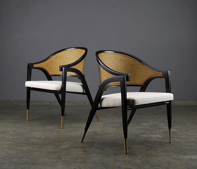 Check out these masterpieces by Edward Wormley!  #edwardwormley #dunbarfurniture #midcenturymodern #midcenturyfurniture #chairporn #chairs #interiordesign