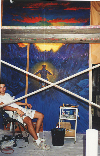 Me in 1994 at 19, in-progress on a 8x12' collaboration