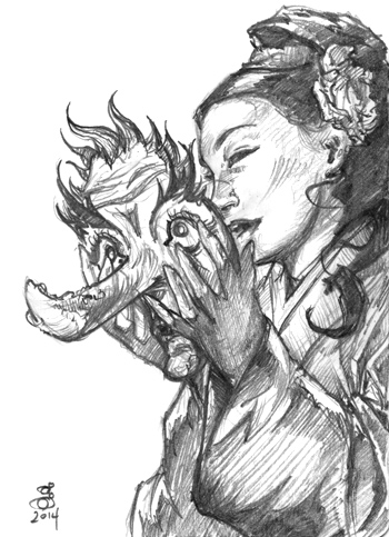 Uba Mask artist proof sketch  , pencil This post needed some art, right?