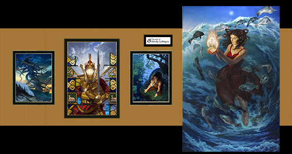 To-scale mockup of a part of my showing. This reflects 1/3 of the art I'm bringing.