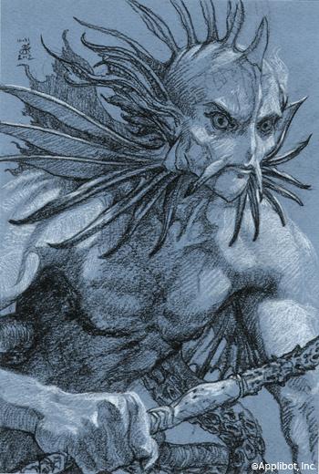 Emperor of the Merfolk, sketch Sold