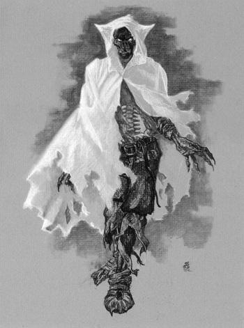 """Stalking Specter"" sketch, charcoal"