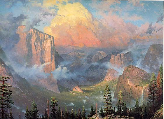 """""""Yosemite Valley,"""" Kinkade before he was Kinkade, also, one of my favorite places on Earth."""