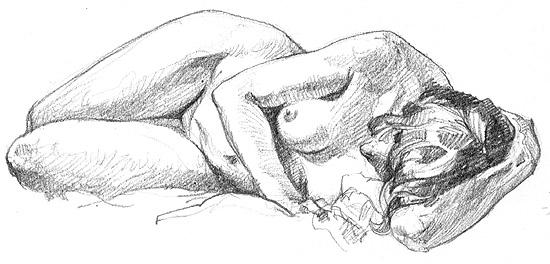 """~3.5x7"""" Pencil, 20 min."""