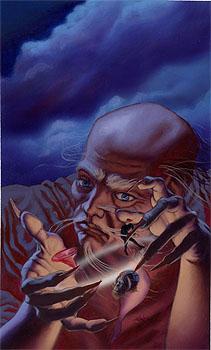 """Old Hermit's Gambit"" acrylic on illustration board"