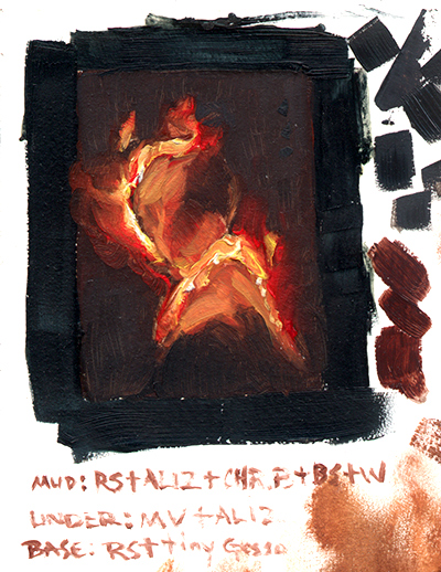 "Color study from first ""Glossai Pyros"""