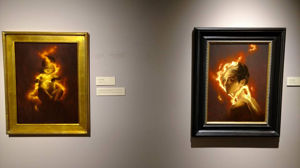 """Glossai Pyros II"" (L) and ""Glossai Pyros"" (R) Thanks to  Tom Kuebler  for the photo from the opening"