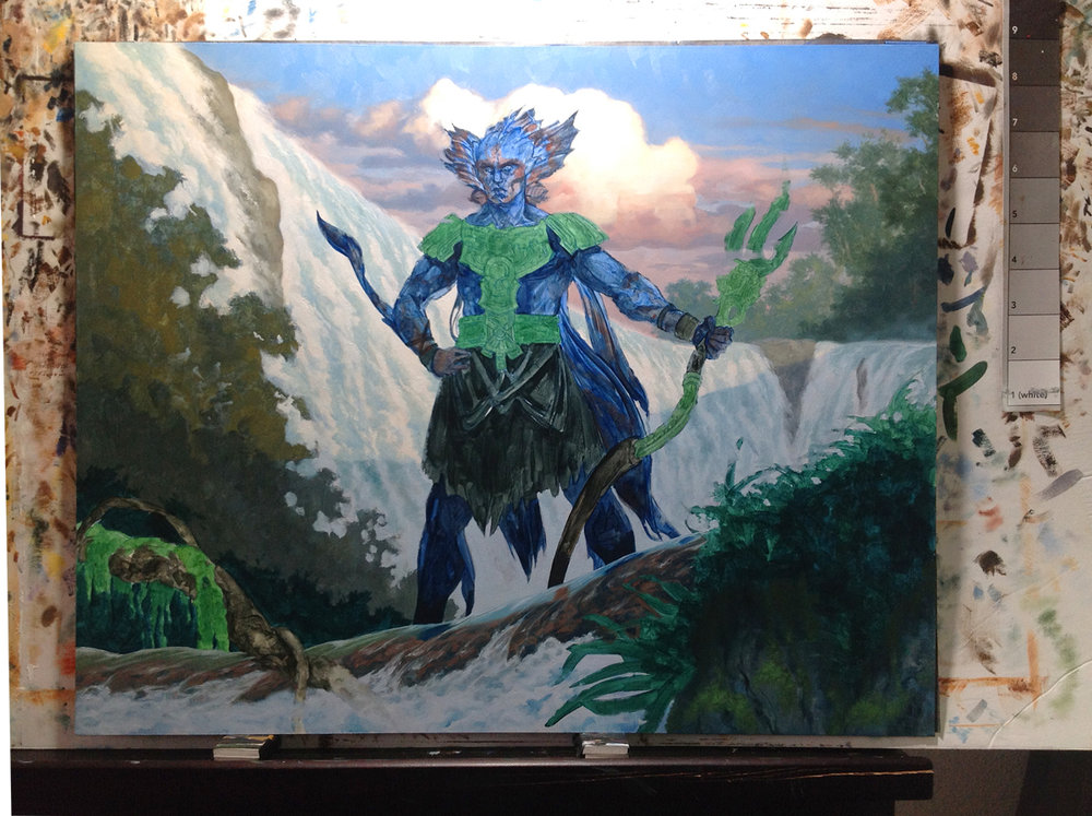 Background in progress in oils