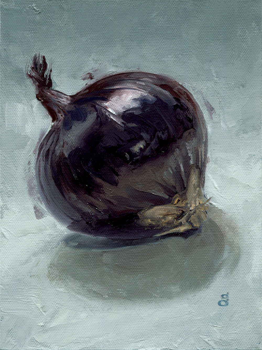 "Red Onion 8x6"" oil on canvas"