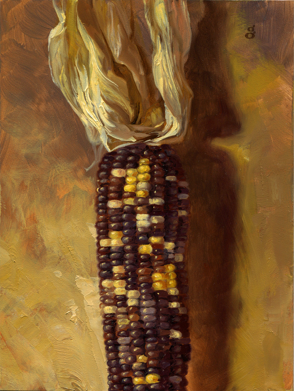 "Flint Corn 6x8"" oil on panel Original art available    Process video here"