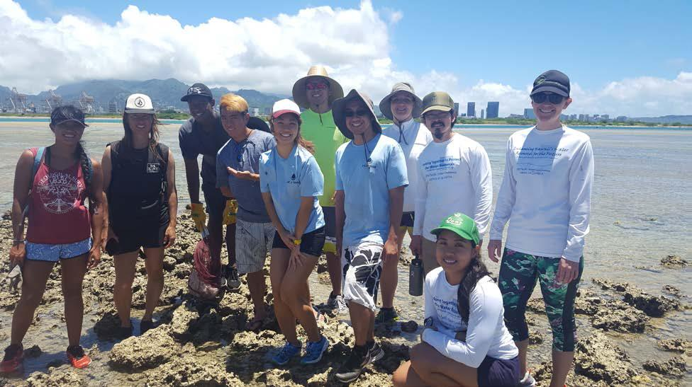 Summer 2016 Newsletter - August 20, 2016 Community Service Event at Mokauea Island Restoration Project.  Group Picture of the YP Volunteers