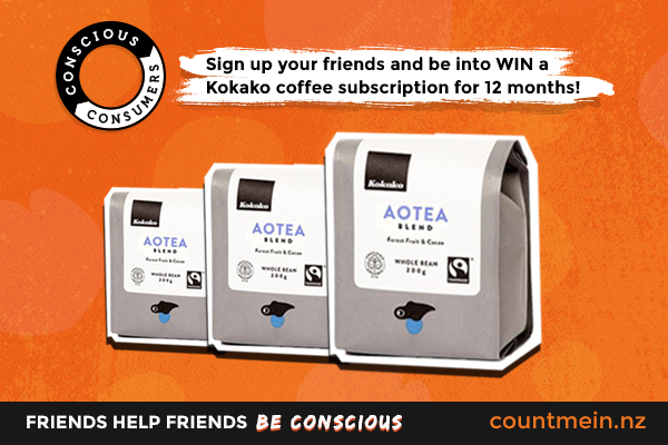 Win this month with Kokako coffee