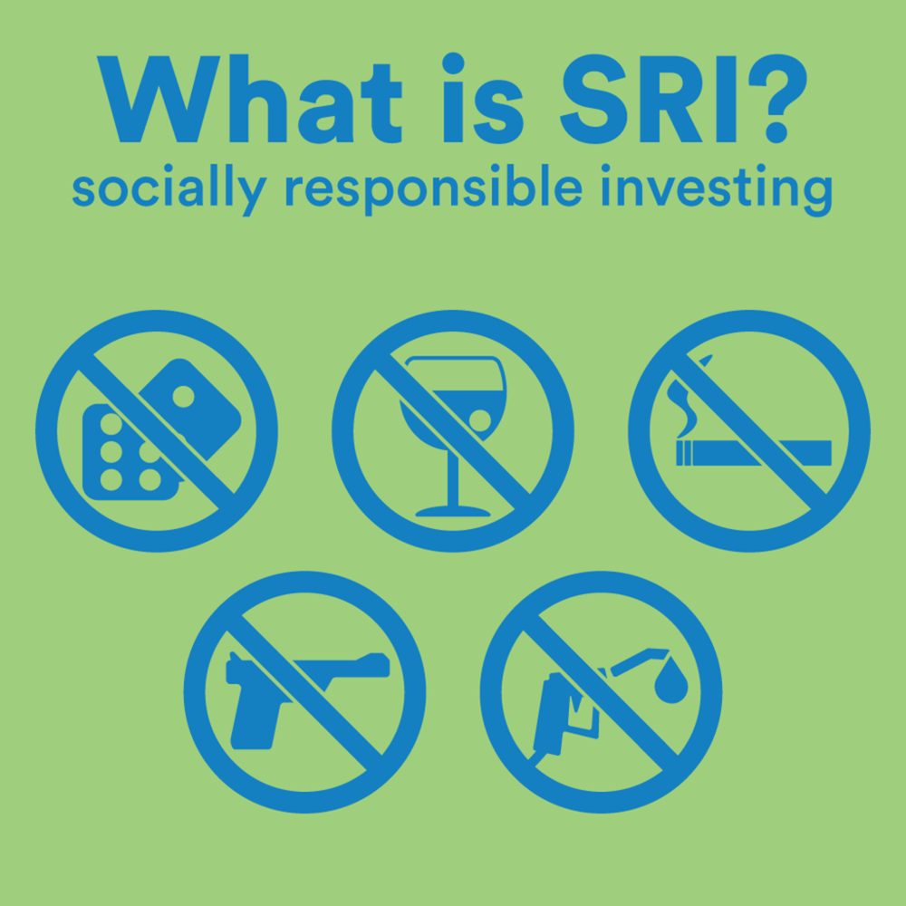 Socially responsible investing often uses 'negative screening' to rule out companies and industries that can cause harm.