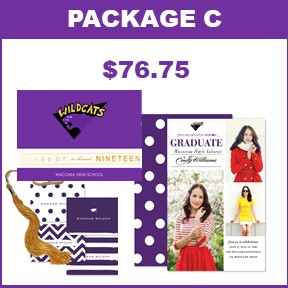 Includes:   25 Wildcat Graduation Announcements  25 Photo Card Grad Party Invites  25 Graduation Thank You Cards  2019 Wildcat Mascot Tassel