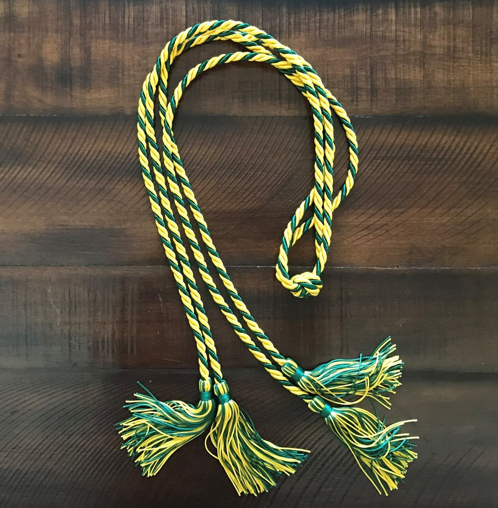 Double Cord / Double Twisted - Green & Gold