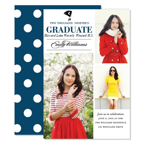 Grad Party Invitation:   Photo card invites for your grad party - choose from a variety of designs! HLWW mascots available on most designs. For Grad Party planning tips see below.