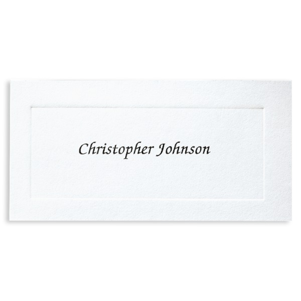 Standard/Regular Name Cards:   Features student name in black fineline print.