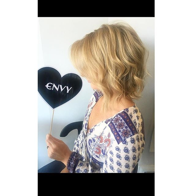 New messy lob for this fab client. #bigcut #texture #beigeblondes #envyhairboutique
