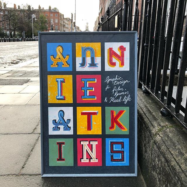 Finally, the reason I'm in Dublin: a weekend workshop (Graphic Design for Film and Television) with the incredible Annie Atkins!!! She's a graphic design celebrity! I'm super excited to be learning from her! @annieatkins #annieatkinsworkshop #annieatkins #dublin #graphicdesignforfilm #teastainedpaper #handlettering #merrionsquare #coffeeangel