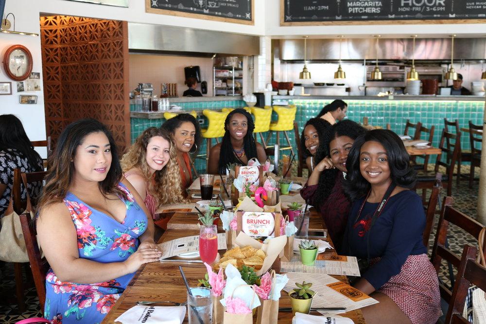 Pictured: Taylor (starryeyes35), Taylor (taymarando), Erica (allthingsmelanin ),  Alyse (iammshope), Shelby (allthingsmelanin_), Nicole (writtenbyexcellence), Carla (igotitforchic)