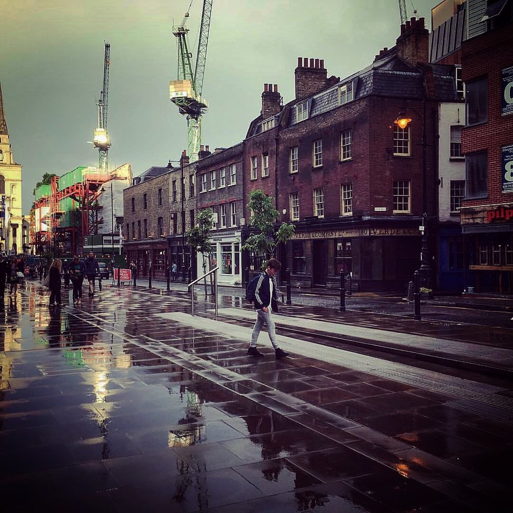Shoreditch reflections - Shot with an iPhone 6s on a set summer's evening.