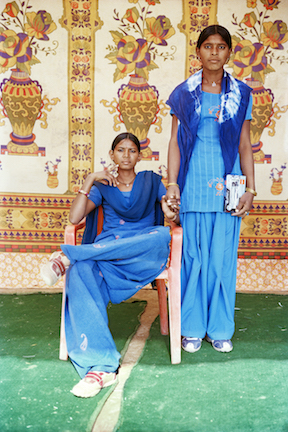 Kamla and Vimla , From the series  Balika Mela  2003/2010; Image courtesy Gauri Gill