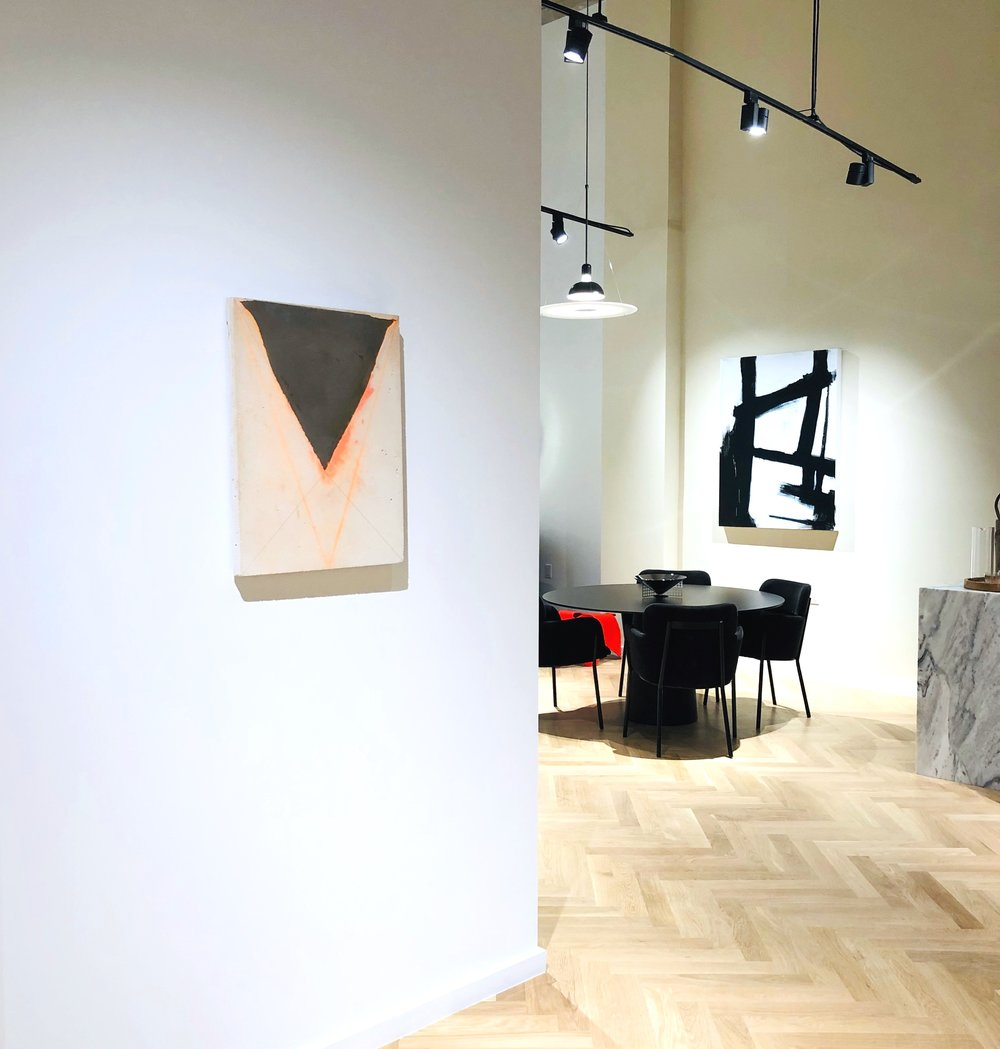 The Museum House Sales Gallery: Installation View with artwork by Alexa Williams and Morgan Studio