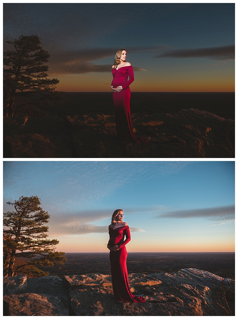 These 2 images were taken within just a few seconds of each other. The first with off camera lighting and the 2nd with natural light. Being so versatile allows for creative images and different looks!