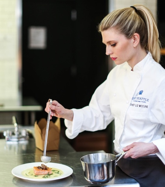 Chef Liz (founder), is a classically trained chef from Le Cordon Bleu in Paris and has spent the last 15 years perfecting her craft. Just as important to her time spent in the kitchen, is her time spent understanding where ingredients come from in their natural environment.