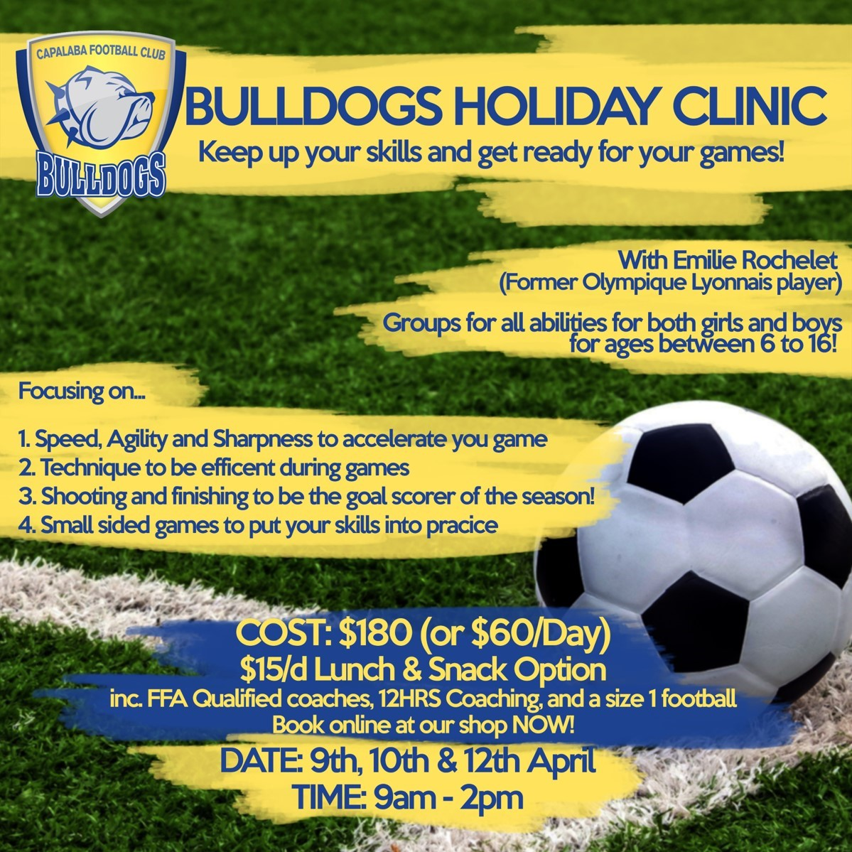 Bulldogs Holiday Clinic for all ages! — Capalaba Bulldogs