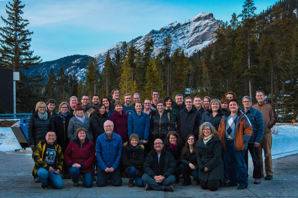 No Banff workshop would be complete without the requisite group shot to mark yet another important milestone in Spiritus Chamber Choir's journey toward choral excellence.