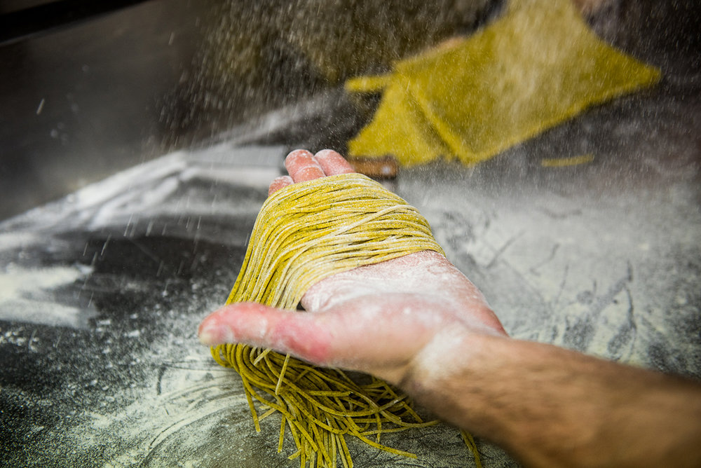 aqua dining pasta making